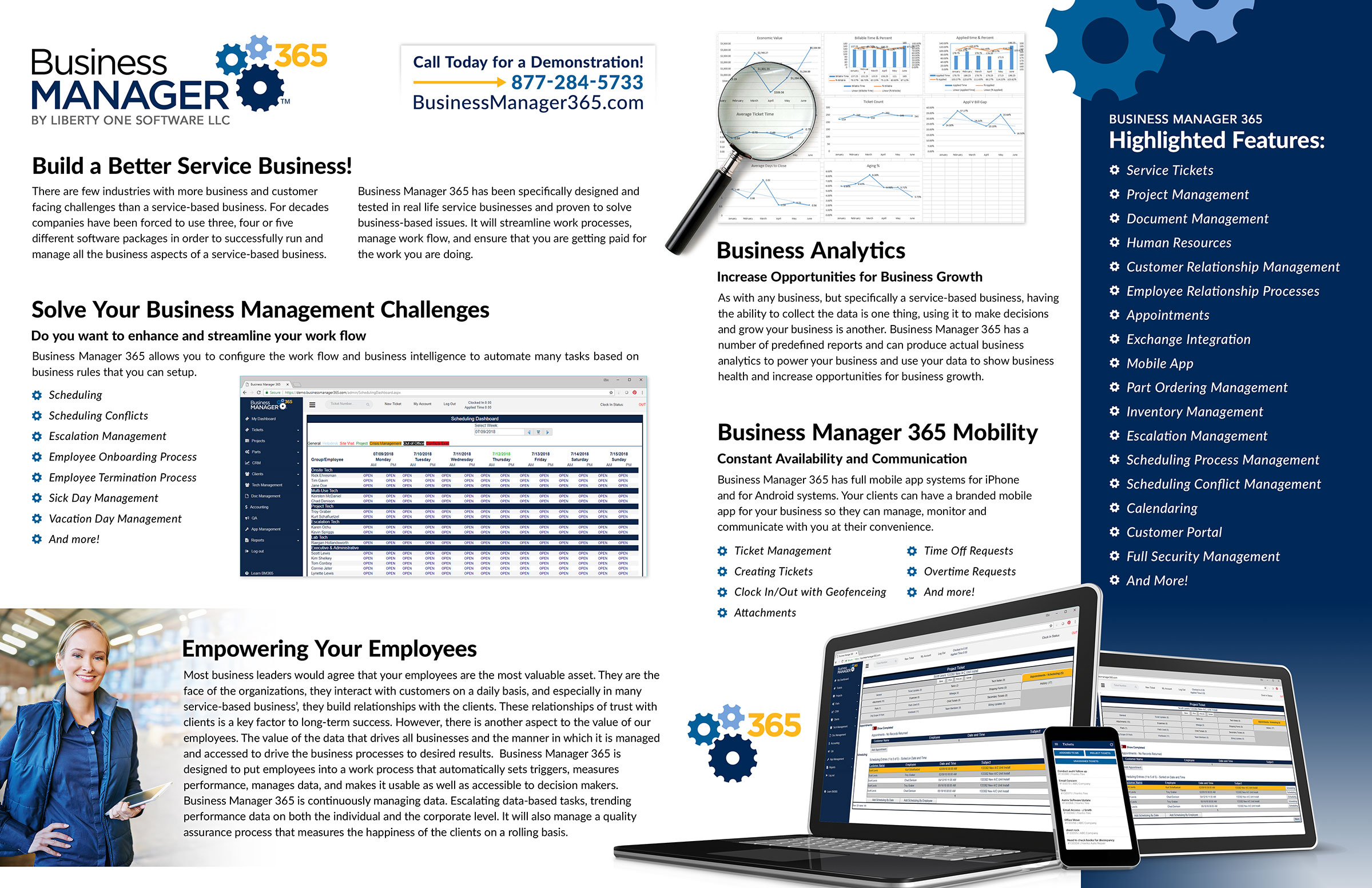 Business Manager 365 July 2018 Newsletter pages 2 and 3